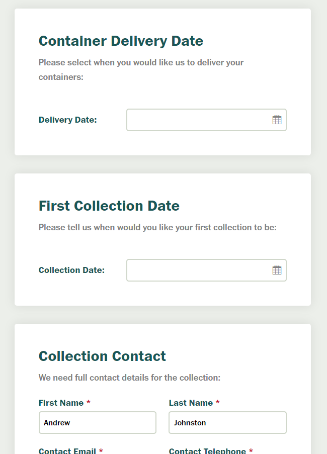 Ordering online - Delivery and collection details